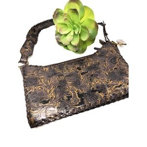 Handbags - 🔸Brown Embroidered Shoulder Purse